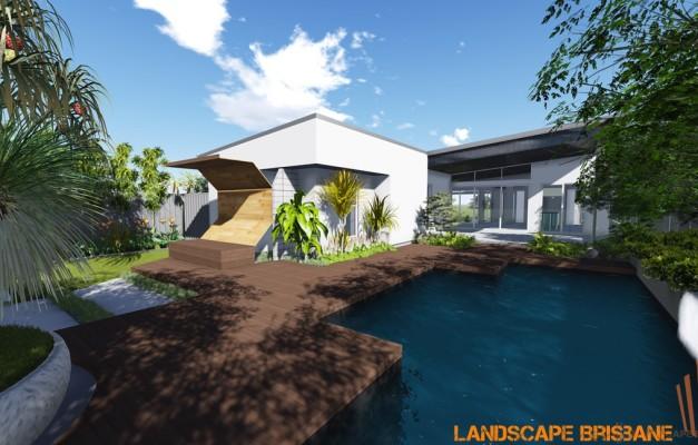 Hendra landscape pool design landscape brisbane for Landscape design jobs brisbane