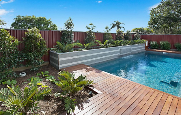 Nudgee pool build surrounds landscape brisbane for Pool builders queensland