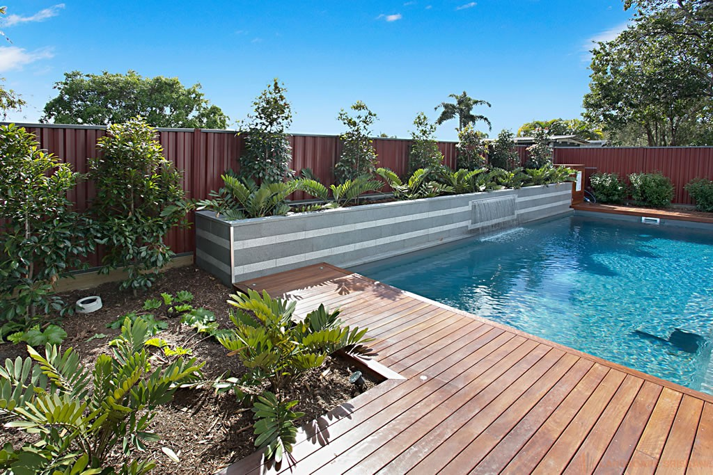 Brisbane landscaping projects portfolio for Pool builders queensland