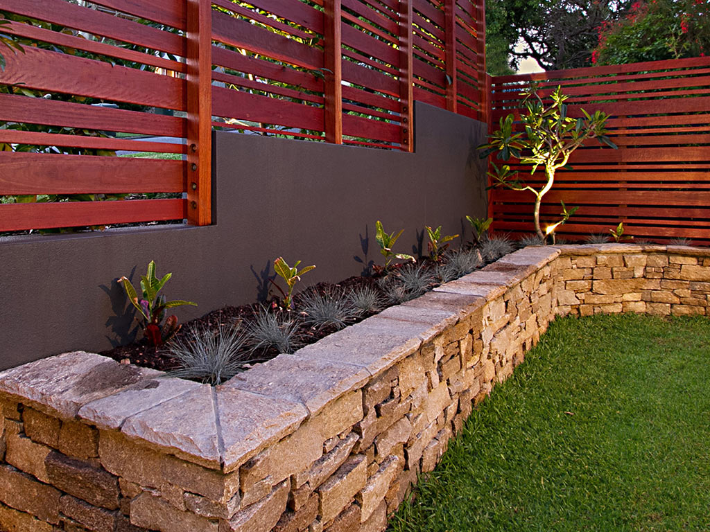 Ideas timber stone landscape brisbane for Landscaping brisbane