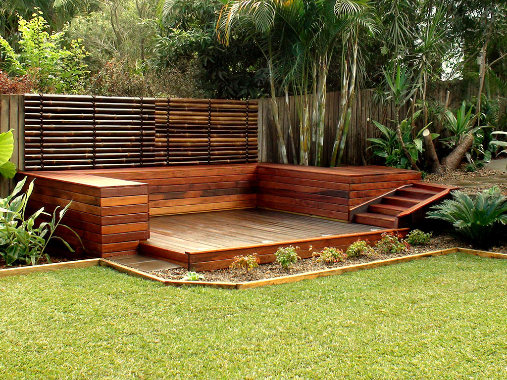 Ideas Timber amp Stone Landscape Brisbane